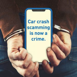 Car crash scamming is now a crime.