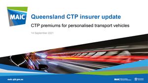 Queensland CTP insurer update